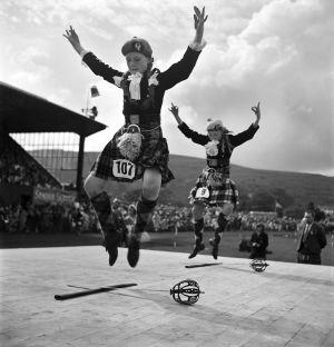 Dance of the Swords, Highland Games, Scotland. 1958