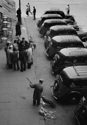 Taxi Drivers' Caucus, Rome, Italy. 1955
