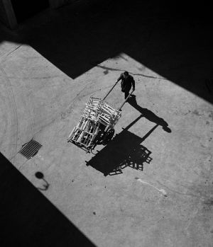 Courtyard Scene, Rome, Italy. 1956
