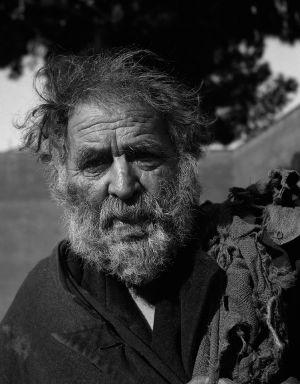 Street Philosopher, Rome, Italy. 1954