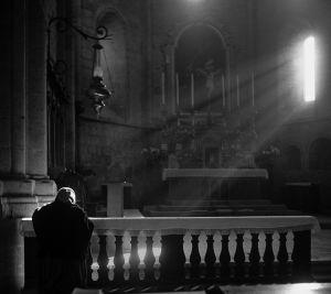 In Prayer, Rome, Italy. 1956