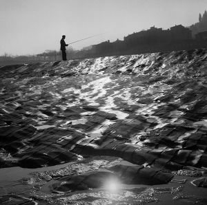 After the Rain, on the Arno edge, Florence, Italy. 1964