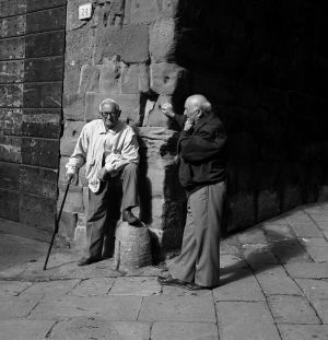 Old Friends, Arezzo, Italy. 1996